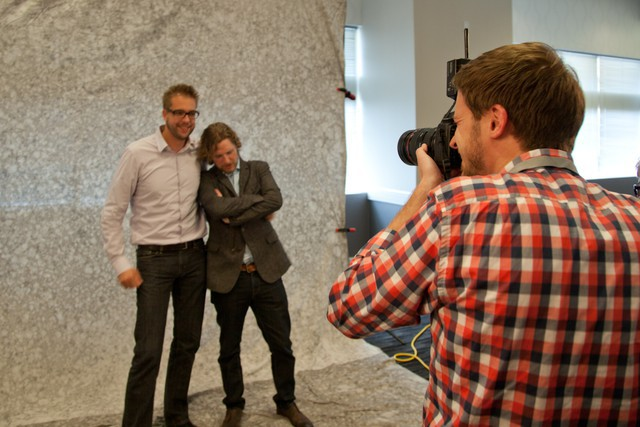 Dries Buytaert and Matt Mullenweg at SchipulCon